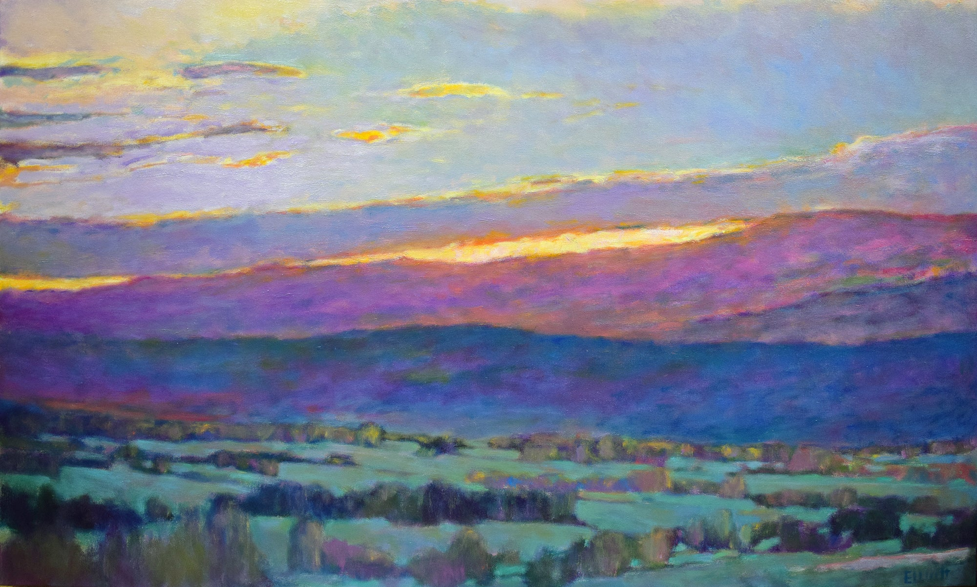 Sun Behind the Foothills 36 x 60