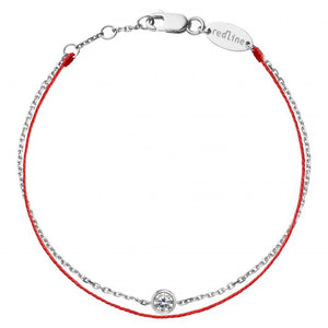 REDLINE PURE DUO Bracelet String Bracelet For Women with 0.10ct Diamond in White Gold Bezel Setting  0.10克拉圓形鑽石白金繩制女士手鏈 - toppridehk