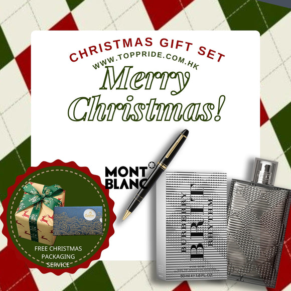 Gift Set! Meisterstück Gold-Coated LeGrand Rollerball & Burberry Brit Rhythm Intense EDT