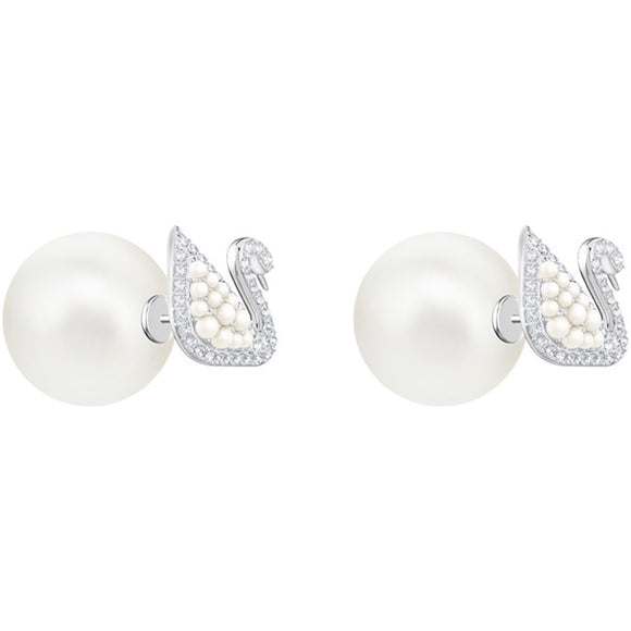 Swarovski Iconic Swan Stud Pierced Earrings 施華洛世奇天鵝耳環 - 品薈toppridehk