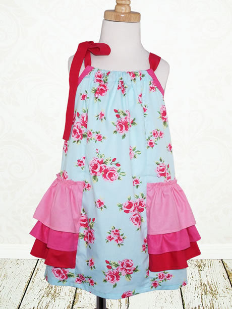 Necktie Bow Shift - Little Girls' Dress