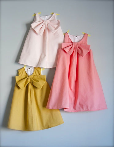 Big Bow Shift - Little Girls' Dress