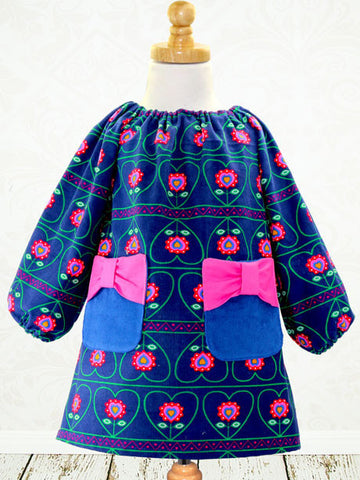 Poppy Bow Shift - Little Girls Dress