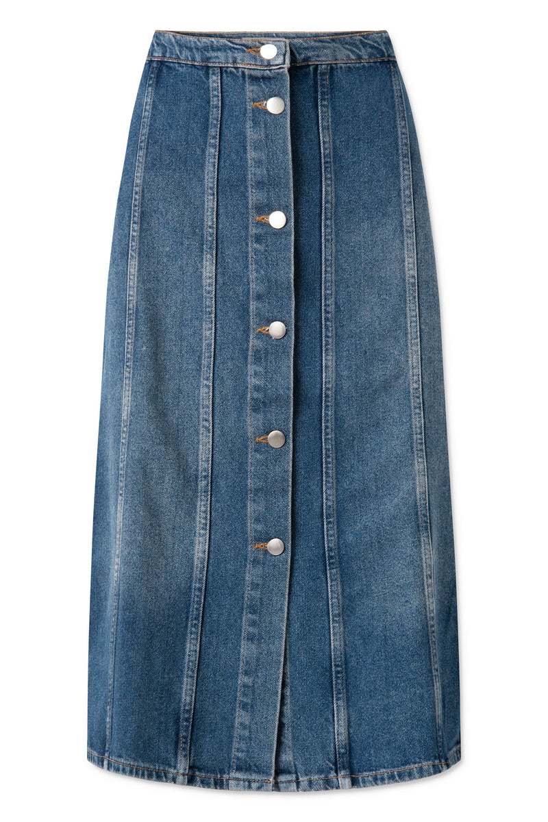 Elissa Skirt - Heavy Washed Denim