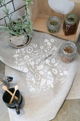 Linen Tea Towel - Scandi Scatter Print  SOLD OUT