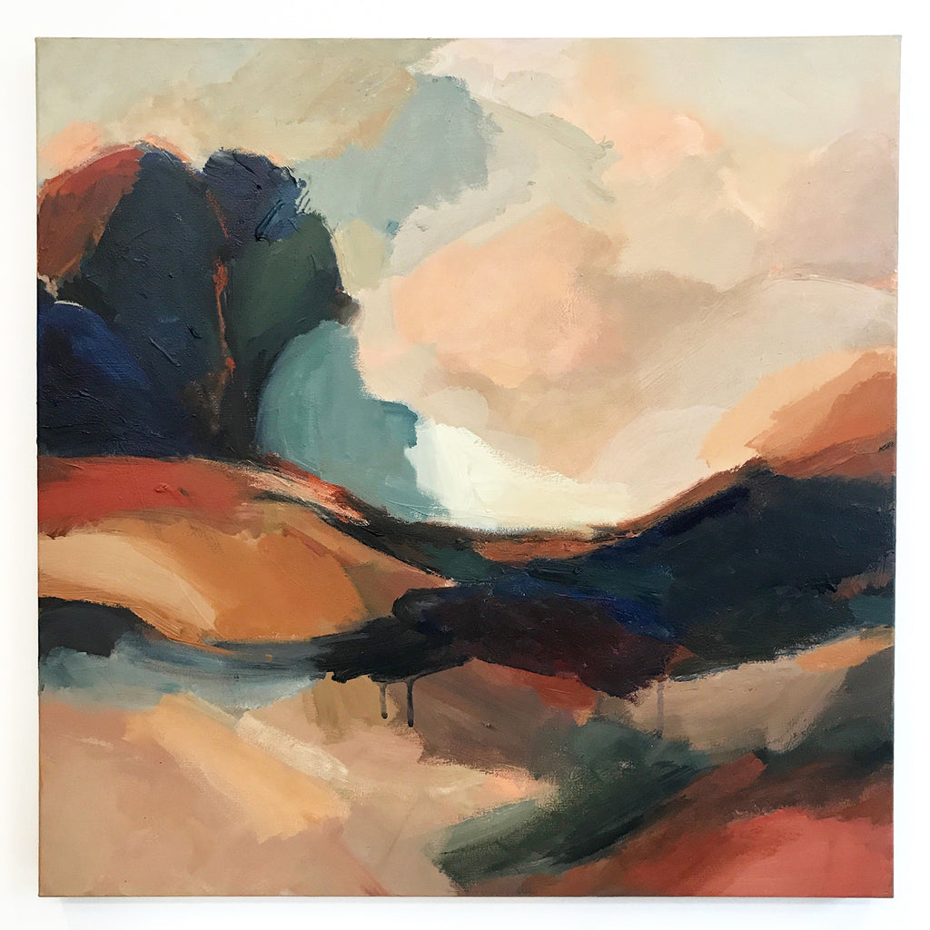 'DRIVING HOME' abstract landscape