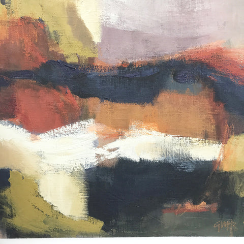 'ABLAZE' Original Abstract On Linen