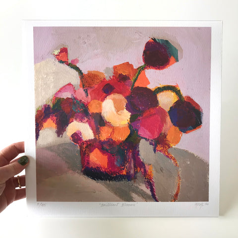 GICLEE PRINT: Brilliant Blooms