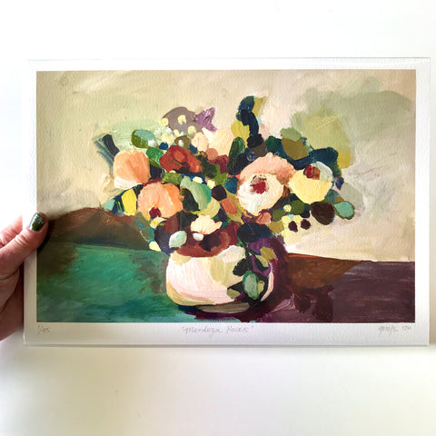 GICLEE PRINT: Mendoza Roses SOLD OUT