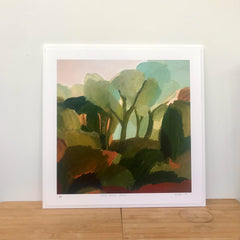 'GREY-GREEN TREES' - large giclee print