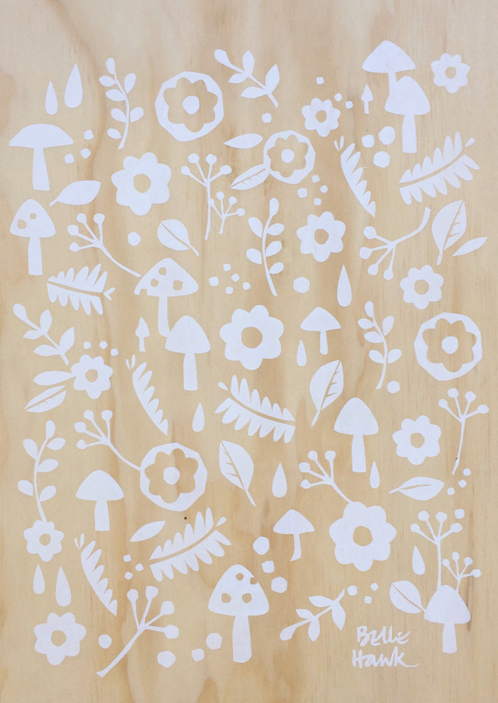 Ply artwork - A3 Scandi Scatter in White