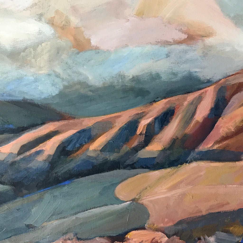 'AFTERNOON ON WITHER HILLS'; landscape on linen