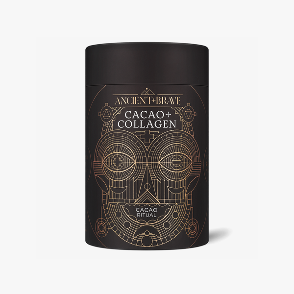 Vegan Ancient + Brave cacao and collagen powder