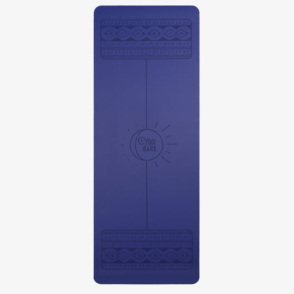 Yogi Bare lunar paws yoga exercise mat blue