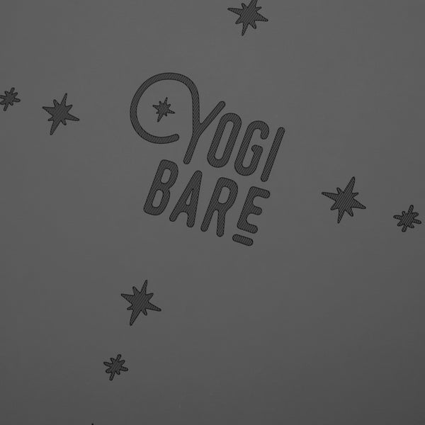 Yogi Bare Paws Natural Extreme Grip Yoga Exercise Mat - Grey