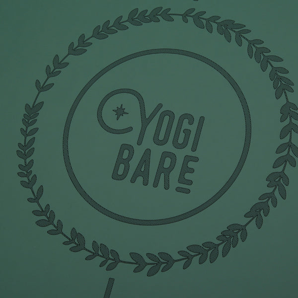 Yogi Bare wild paws yoga exercise mat green