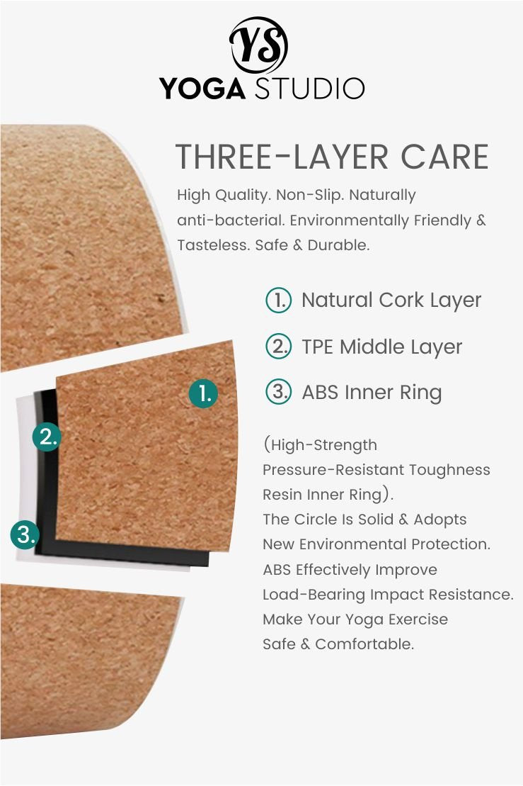 Yoga Studio Natural Cork Yoga Wheel