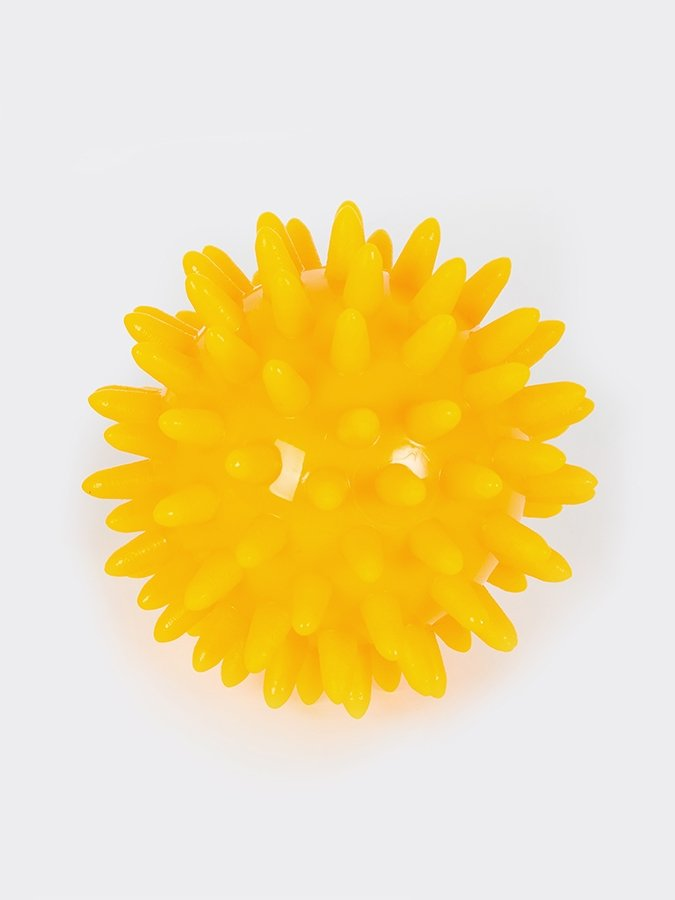 Spikey Massage Ball tension release yellow