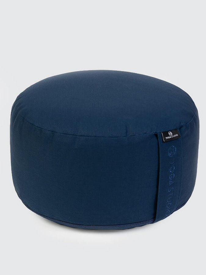 Yoga Studio European-made Organic Buckwheat Large Meditation Cushion Navy Blue
