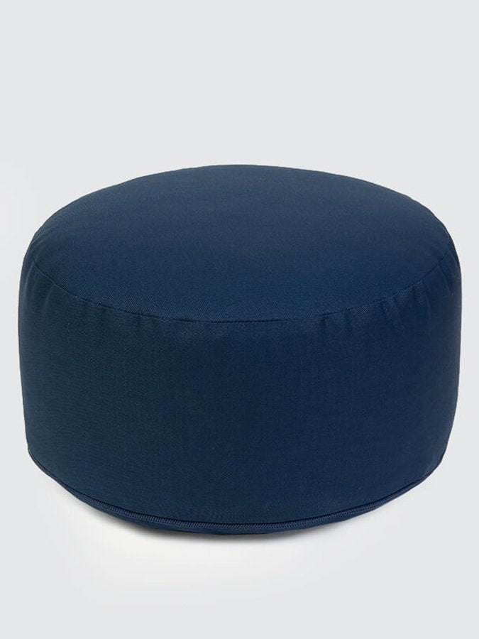 Yoga Studio European-made Organic Buckwheat Large Meditation Cushion Navy Blue Back