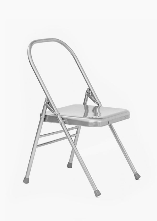 Folding yoga chair with no front bar