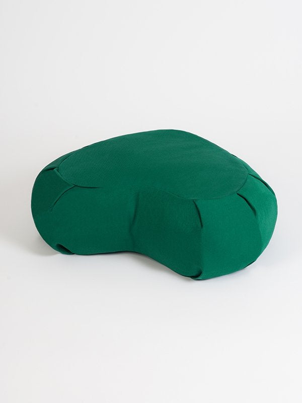 European Crescent Zafu Organic Meditation Cushion Jade Green
