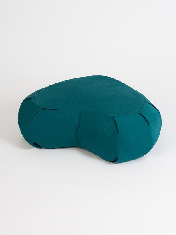 European Crescent Zafu Organic Meditation Cushion Teal
