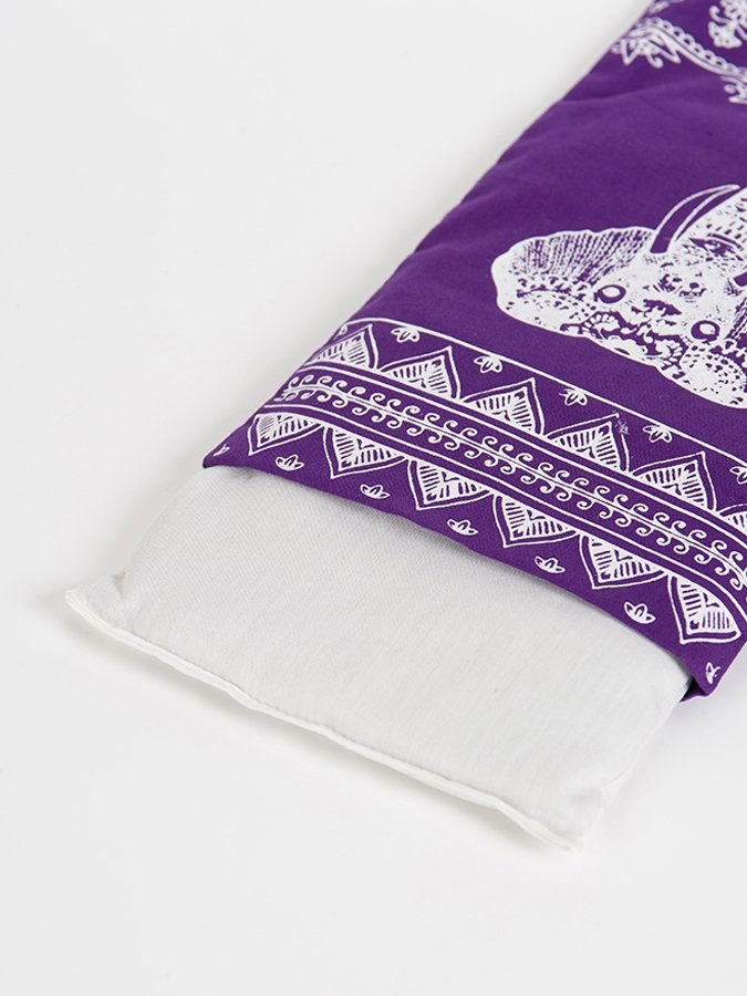 Designed Organic Lavender & Linseed Eye Pillow Aztec Elephant Purple