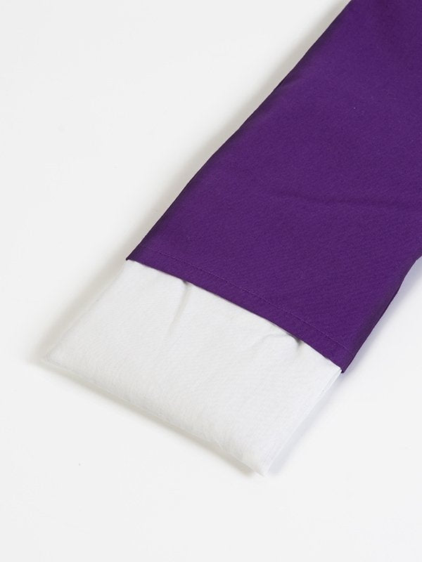 Organic Unscented Linseed Eye Pillow Purple Inside