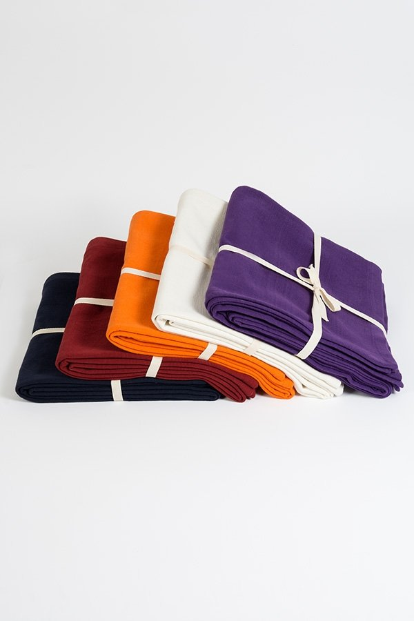 Organic Natural Cotton Yoga Blanket All Colours