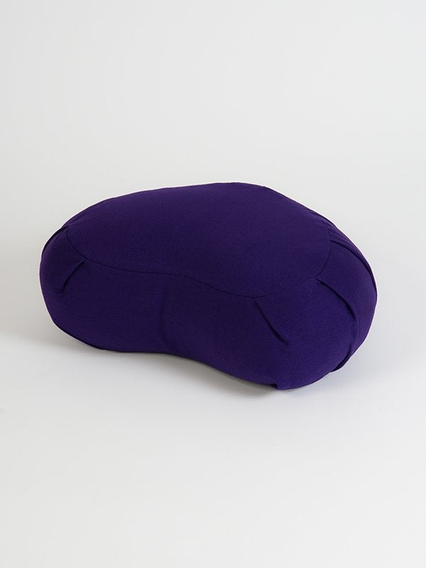 European Crescent Zafu Organic Meditation Cushion Purple
