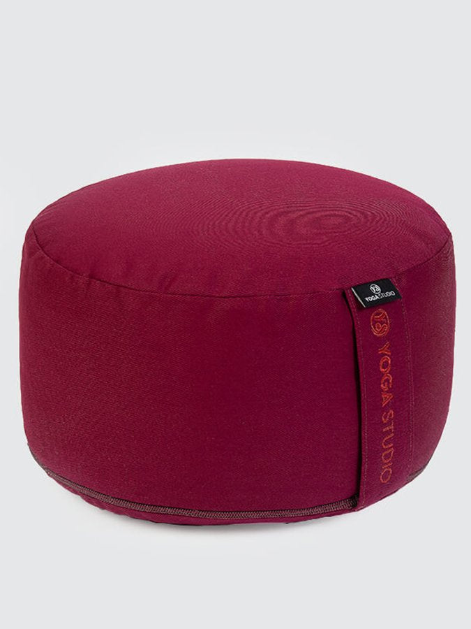 Yoga Studio European-made Organic Buckwheat Large Meditation Cushion Burgundy