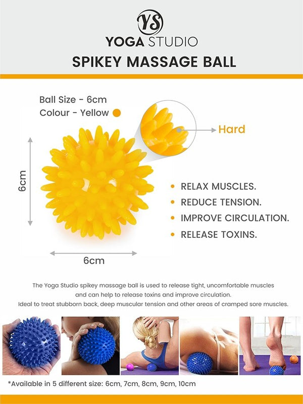 Spikey Massage Ball tension release yellow instructions