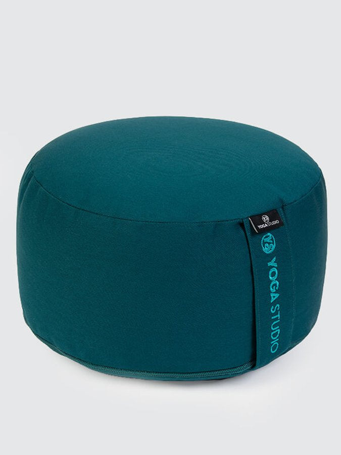 Yoga Studio European-made Organic Buckwheat Large Meditation Cushion Teal