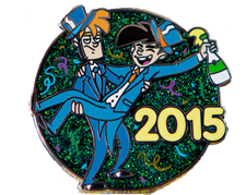 2015 New Year's Pin