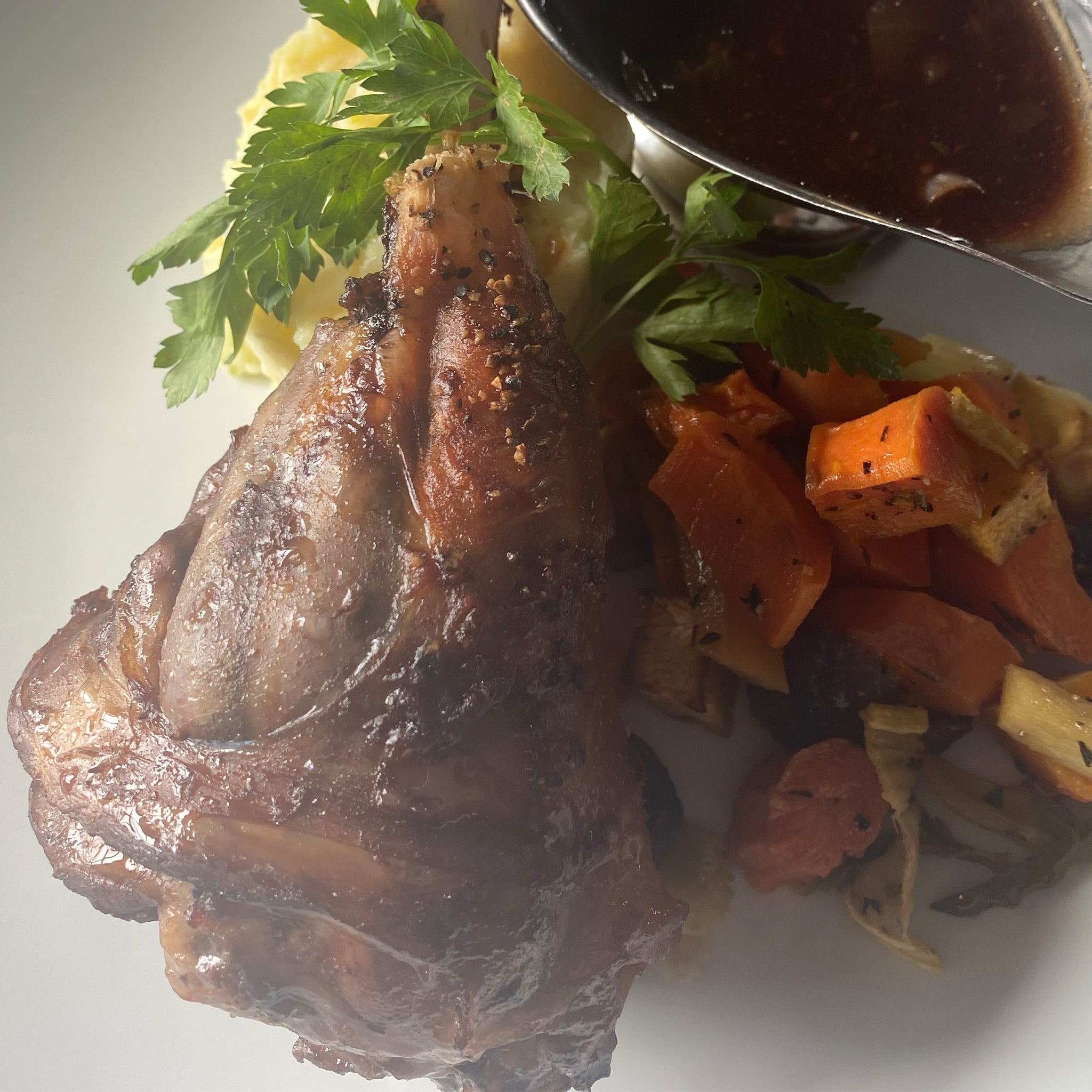 Slowly Braised Lamb Shank