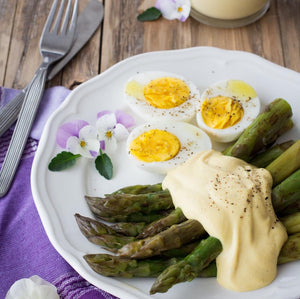 Asparagus in orange sauce