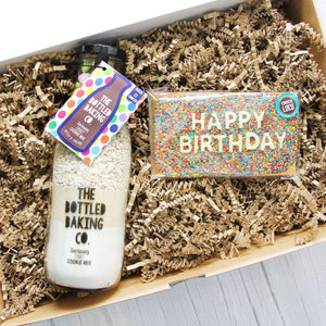 Happy Birthday - Cookie Mix & Chocolate Gift Box