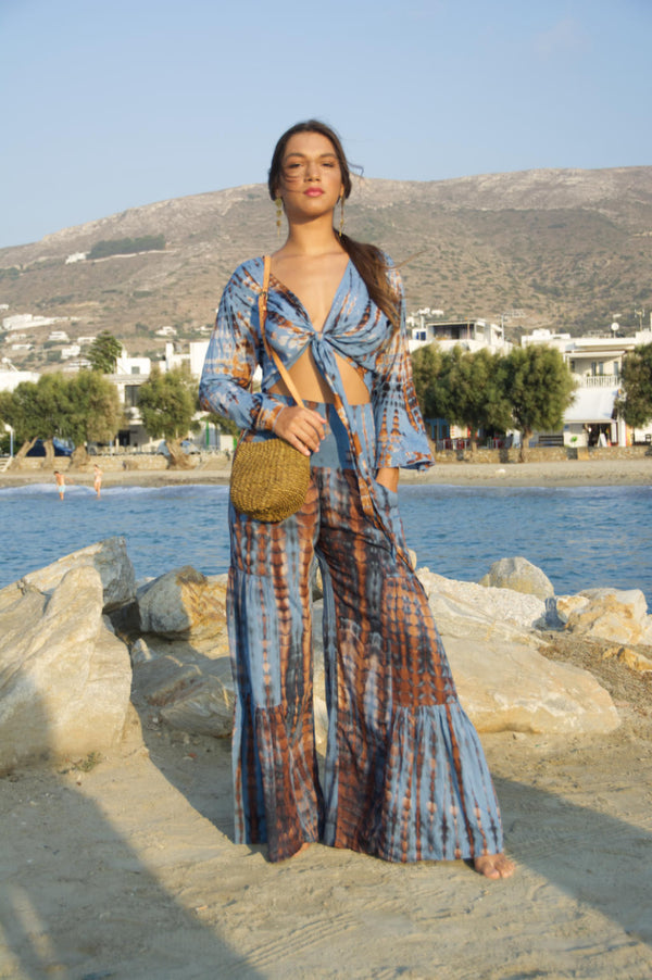 Pants Gypsy Long blue gold