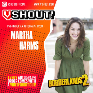 CLOSED Martha Harms Official vShout! Autograph Pre-Order