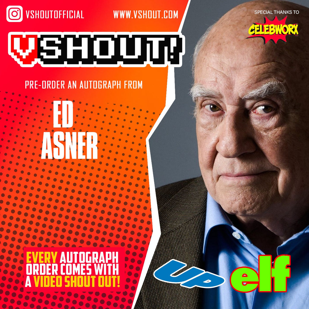 Closed Ed Asner Official vShout! Autograph Pre-Order