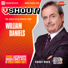Load image into Gallery viewer, William Daniels Official vShout! Autograph Pre-Order