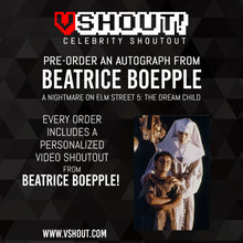 Load image into Gallery viewer, CLOSED Beatrice Boepple Official vShout! Autograph Pre-Order