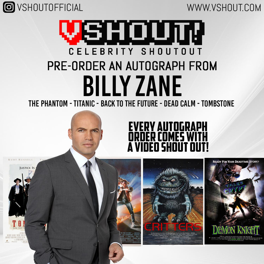 Billy Zane Official vShout! Autograph Pre-Order