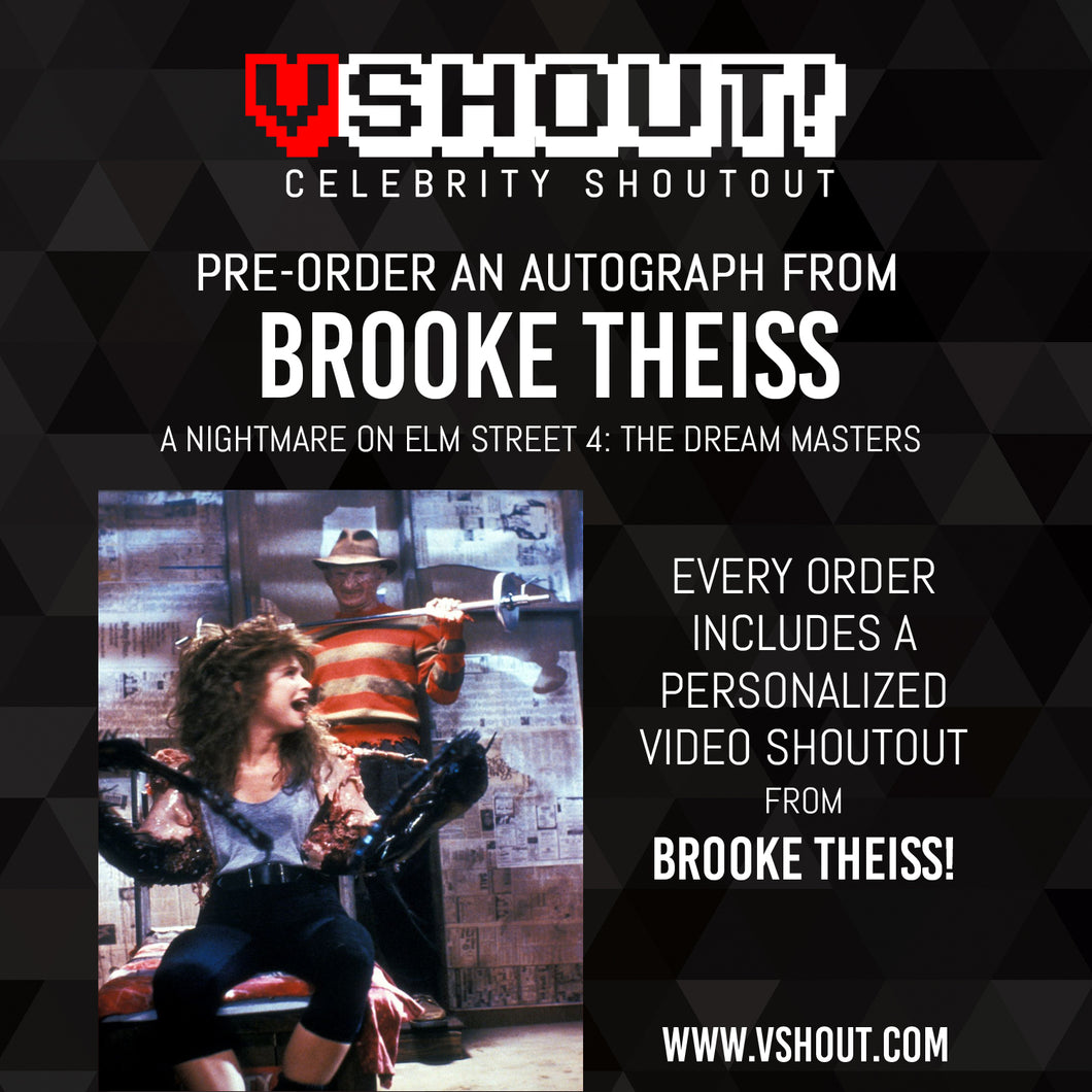 CLOSED Brooke Theiss Official vShout! Autograph Pre-Order