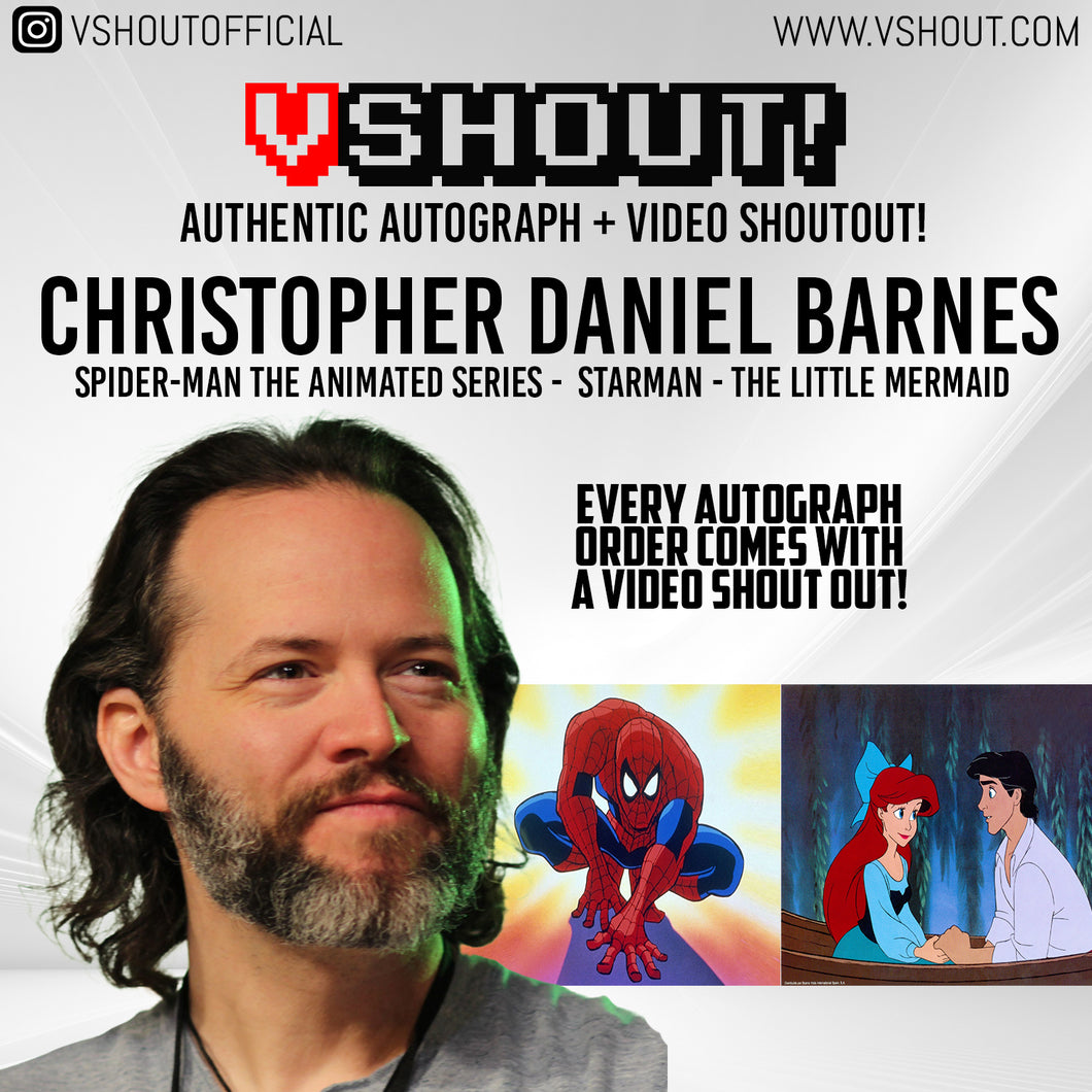 CLOSED Christopher Daniel Barnes Official vShout! Autograph Pre-Order