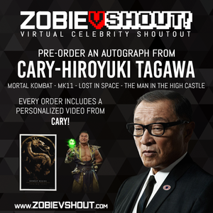 CLOSED Hiroyuki Tagawa Official Zobie vShout! Autograph Pre-Order