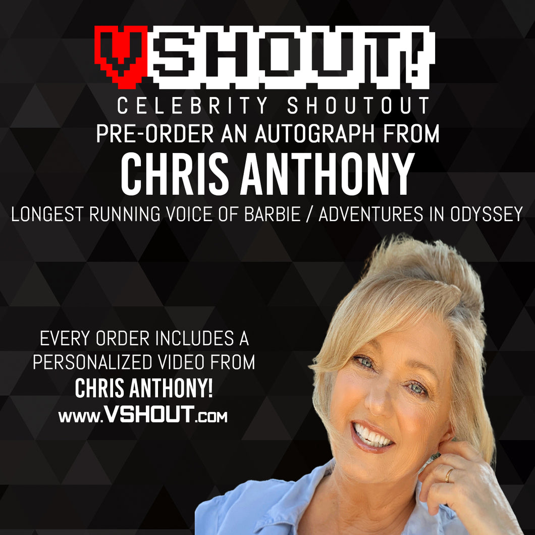 CLOSED Chris Anthony Official vShout! Autograph Pre-Order