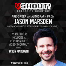 Load image into Gallery viewer, Jason Marsden Official vShout! Autograph Pre-Order