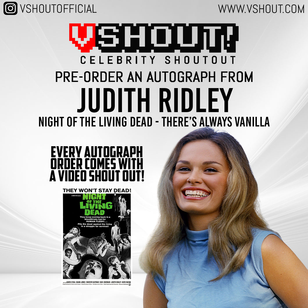 CLOSED Judith Ridley Official vShout! Autograph Pre-Order